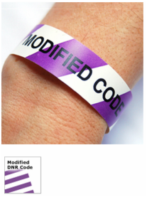 Modified Code Alert Wristbands