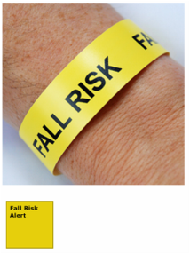 Fall Risk Alert Wristbands