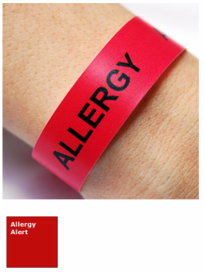 Polyester Allergy Alert Wristbands