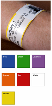 Adult Tyvek Wristbands without shields